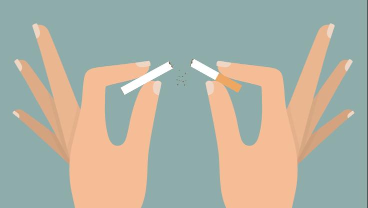 kvinde-knækker-cigaret-med-fingrene